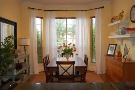 Stunning Swag Curtains For Living Room Contemporary Amazing - Bay window in dining room