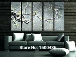 grey yellow wall art wall arts grey yellow wall art hand painted abstract oil yellow flowers