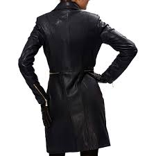 lopsided zipper leather coat for women s