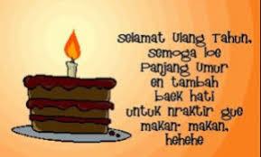 Contoh ucapan ulang tahun untuk merayakan hari istimewa kekasih, kakak, adik, anak, ibu atau ayah, bahkan untuk sahabat. Tag Archive Ucapan Selamat Ulang Tahun Untuk Kakak Perempuan Dalam Bahasa Inggris