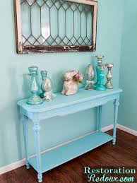blue console table. Blue-Painted-ConsoleTable Blue Console Table