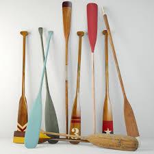 wooden oars 3d model