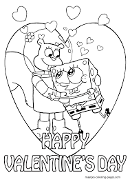 Small Picture Spongebob Valentine Coloring Pages SpongeBob Valentines Day