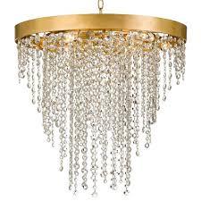 crystorama winham 6 light antique gold crystal chandelier