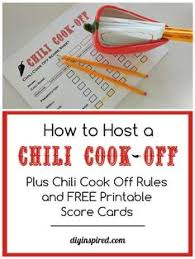 chili cook off judging sheet free chili cook off score card scores chili soup and yummy yummy