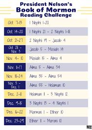 Book Of Mormon Reading Chart Utahvalley360