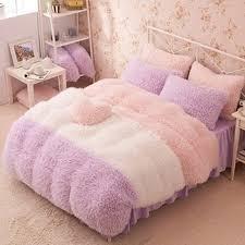 flannel short plush bedding duvet cover set winter style bedding set full queen king size bed set duvet cover set reactive print