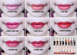 Review Swatches Laneige Two Tone Tint Lip Bar All 8 Shades