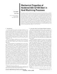 52100 Tempering Chart Pdf Mechanical Properties Of Hardened Aisi 52100 Steel In