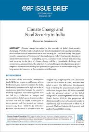 climate change and food security in orf