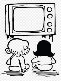 Free Clipart Of Kids Watching Tv Watch Tv Clipart Black And White