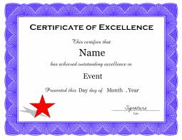 Award Of Excellence Certificate Template Certificate of Excellence Template 51