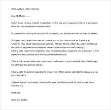 job termination letters free employee termination letter templates