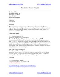 Resume Sample Data Analyst Resume