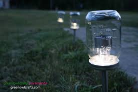 upcycled mason jar solar lights