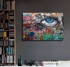 wall art for home office. Image Is Loading Graffiti-Stretched-Canvas-Print-Framed-Wall-Art-Home- Wall Art For Home Office N