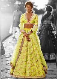 Neon Designer Dress Designer Silk Base Neon Green Color Embroidery Work Lehenga
