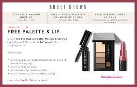 receive a free 4 pc gift with 85 bobbi brown purchase