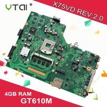 Buy for asus <b>x75vd</b> laptop <b>motherboard</b> and get free shipping on ...
