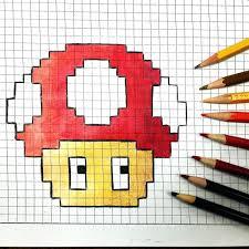 Mario Graph Paper Drawings Pixel Drawings On Graph Paper Printable