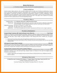 Computer Technician Resume Sample Computer Technician Resume Unique