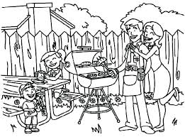 Astounding Picnic Coloring Pages Family Colouring For Adults