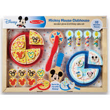 Melissa And Doug Retro Kitchen Mickey Mouse Pizza And Cake Walmartcom