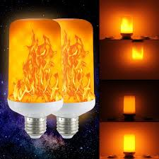 Light Bulbs That Look Like Fire 2 Pack Golspark Led Flame Effect Light Bulb 7 Watt Standard E26 Base Flickering Fire Light Halloween Christmas Holiday Atmosphere Decorative