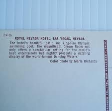 Royal Nevada Hotel Las Vegas, 1955 Postcard