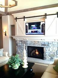 installing over fireplace tv mantle mantel ideas install above brick hide wires