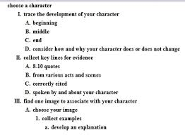 character analysis essay outline example of a character analysis essay