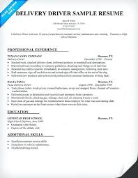 Delivery Driver Sample Resume Topshoppingnetwork Com