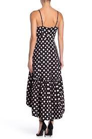 Eliza J Dress Size Chart Eliza J Polka Dot Faux Wrap High Low Party Dress Hautelook