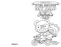 Thank You Black And White Printable 4 Free Printable Fathers Day Cards To Color