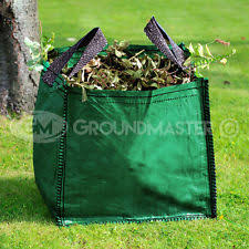 garden bags. GroundMaster 120L Garden Waste Bags - Heavy Duty Large Refuse Sacks With Handles M