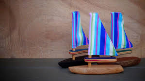 picture of wooden toy sailboats