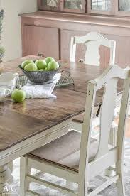 see how grandma s antique dining table and chairs is transformed and updated with chalk paint