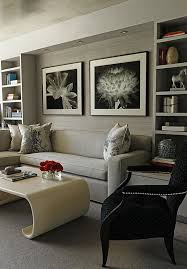 grey furniture living room ideas. View In Gallery Concrete Grey Furniture Living Room Ideas A