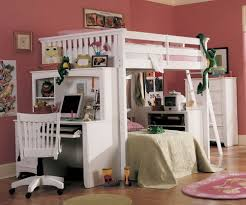 Queen Size Bunk With Desk Loft Beds bed Queen Loft Bed With Desk Design