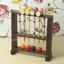 dollhouse miniature 1 12 toy garden toy wooden croquet set h6 7cm rl1335 dolls houses and accessories dollhouse miniatures from paradise02
