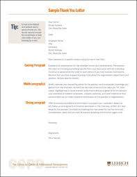 After Interview Thank You Letter Template