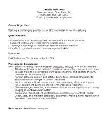 Ekg Technician Resume resume templates ekg technician Ekg Technician Resume  Tim Hortons Resume Job Description Cover