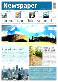 Free Indesign Newspaper Template Newspaper Template Free Tabloid Newspaper Template Free