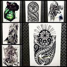 индейских племен водонепроницаемый временные татуировки наклейки черный