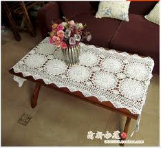 Aliexpress.com : Buy New Handmade Crochet Lace flowers White rectangular  Table Runner Woven tablecloths