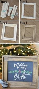 Christmas Mantle Update, How to make a Rustic Wood Frame   Rustic ...
