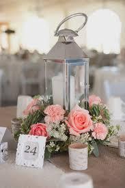 Romantic Lantern & Roses Wedding Centerpiece