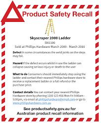 Recall Advertisement Templates Product Safety Australia