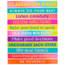 Good Manners Chart For Class 1 Teacher Created Resources Colorful Vibes Class Rules Chart