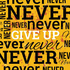 Never Give Up Vector Poster Motivational Quotes Design Background